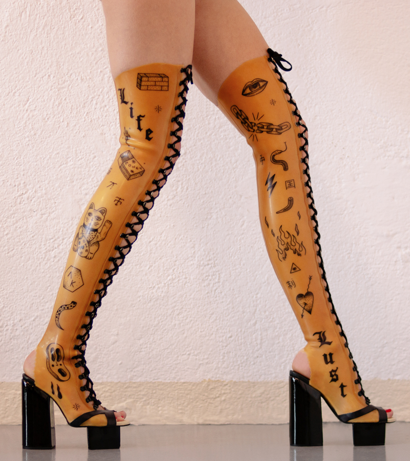 AKFT A.K. Latex Boots